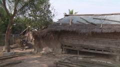 Bamboo hut in the village, Luang Prabang, Laos Stock Footage
