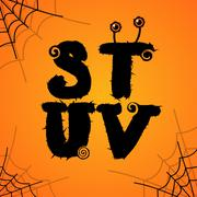 Vector halloween scary colorful alphabet Stock Illustration
