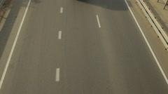 Highway traffic, POV video surveillance Stock Footage