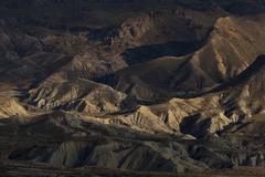 Badlands in the desert of Tabernas, Almeria, Andalucia, Spain Stock Photos
