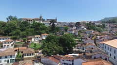 Flying over Ouro Preto, Minas Gerais, Brazil Stock Footage