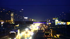 Traffic in night Kiev timelapse - stock footage