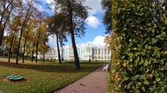 Catherine Palace. Pushkin. Catherine Park. Tsarskoye Selo. 4K. Stock Footage