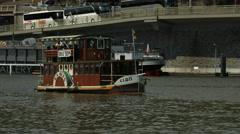 Elbis boat trip on Vlatva River, Prague Stock Footage
