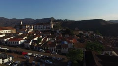 Aerial View of Ouro Preto, Brazil Stock Footage