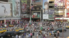 Crowds and traffic at Ximending Stock Footage