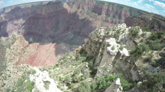 The Grand Canyon From Above - Birds Eye Point of View Stock Footage