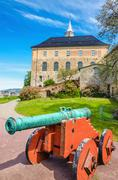 Stock Photo of Old green bronze cannon, Akershus Castle, Oslo