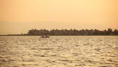 Boating at sunset - Izmir Stock Footage