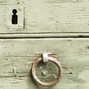 Detail of an old door and mediaval Stock Photos