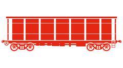 Stock Illustration of Open Railway freight car - Vector illustration