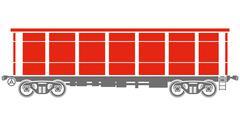Open Railway freight car - Vector illustration Stock Illustration