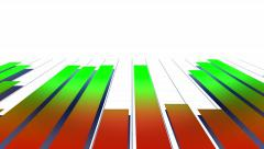 Fast moving growing colorful bars - stock footage
