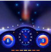 Car dashboards vector - stock illustration