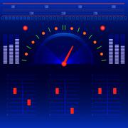 Abstract radio and music panel vector Stock Illustration