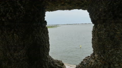 Stock Video Footage of Looking at Bay from Oldest Fort Castillo de San Marcos in St. Augustine