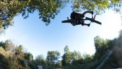 Slow motion: Extreme Sport - Bmx air trick 360 Stock Footage