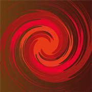 spiral shape in vector - stock illustration