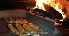 Turkish Pizza Pide Stock Footage