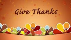 Dont be a Turkey Give Thanks - stock footage