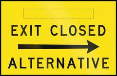Exit Closed - Alternative Right In Australia - stock illustration