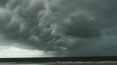 Storm on Beach with Dark Clouds in St. Augustine Florida, 4K Stock Footage