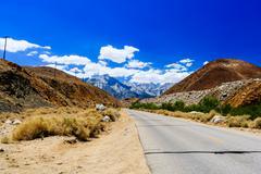Street at the Alabama Hills, Sierra Nevada Stock Photos