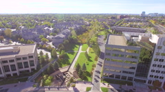 Aerial view of apartment com Stock Footage