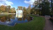 Stock Video Footage of Upper bathhouse. Pushkin. Catherine Park. Tsarskoye Selo. 4K.