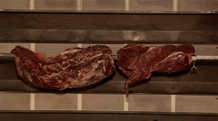 Cooking meat on the grill Stock Footage