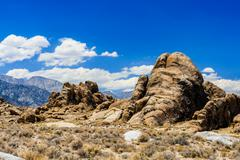 Elefantenkopf Felsformation in den Alabama Hills - stock photo