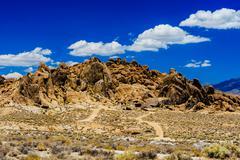 Alabama Hills, Sierra Nevada Stock Photos