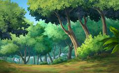 Forest daytime - stock illustration