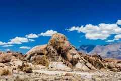 Elefant Steinformation in den Alabama Hills, Sierra Nevada, Kalifornien, USA - stock photo