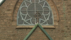 Stock Video Footage of Window of the Anglican Trinity Church (zoom-out)