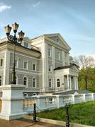 The family house-manor - stock photo