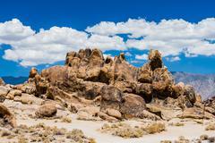 Hippo Rock at Alabama Hills, Sierra Nevada Stock Photos