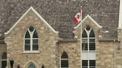 Windows of the Community Trinity Church Stock Footage