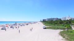 Aerial  of South Beach, Miami Beach. Stock Footage