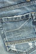 Back pocket of fashion blue jeans Stock Photos