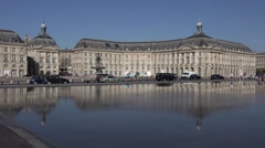Stock market place in Bordeaux Stock Footage