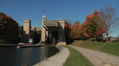 The Peterborough Lift Lock (zoom-in) Stock Footage