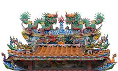 China Dragon, Chinese temple in Thailand. Stock Photos