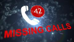 Missing calls. A lot of missed calls Stock Footage