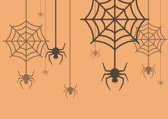 Halloween background Spider with Cobweb Stock Illustration