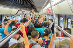 Modern metro trasportation in Medellin city, Colombia Stock Photos