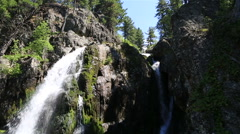 Beautiful Muehtinsky waterfall in Altai Republic Stock Footage