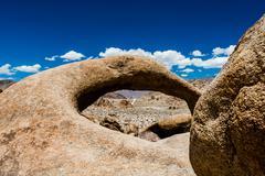 Round arch, Alabama Hills, Sierra Nevada Stock Photos