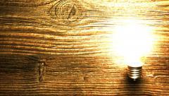 Light bulb blinks - stock footage