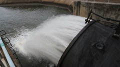 Sluice dam in Khlong Yai Reservoir Stock Footage